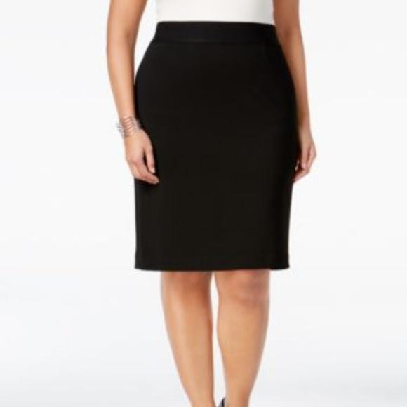 f038131eff Alfani Skirts | Deep Black Straight Pencil Skirt Plus Size | Poshmark
